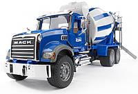 Игрушечный бетоновоз Bruder Mack Granite М1:16 Синий (02814)