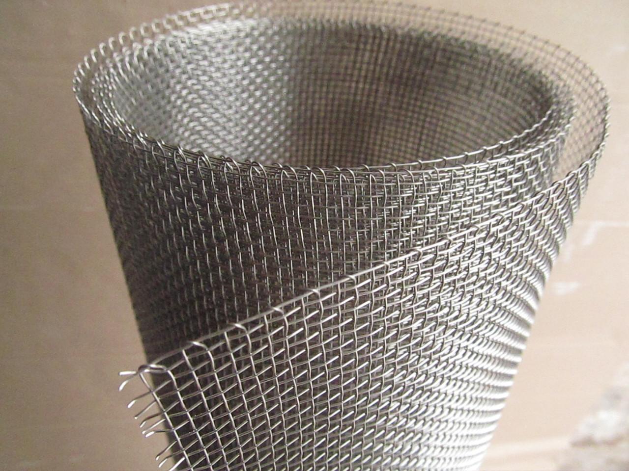 Сетка тканая из нержавеющей проволоки. Ячейка: 3,0мм, Проволока: 1,0мм, Ширина 1м.