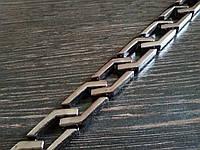 Цепь декоративная метражная пластик №7 ширина 14мм цвет темный никель