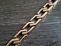 Цепь декоративная метражная пластик №7 ширина 14мм цвет золотая