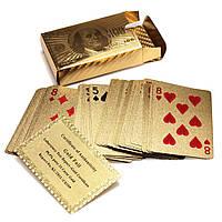 Карты игральные покерные золото