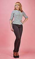 Утепленные лосины с рельефным швом по всей длине штанины