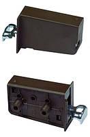 Подвес с креплением 10 мм правый коричневый (подвес мебельный) Scilm