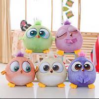 Детские мягкие игрушки птички с хохолками и лицами на веревочке 3вида поштучно или комплект 359грн!!