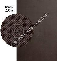 Резина подметочная «эластичка» рисунок «TOPY» (Китай), р. 400*600*2.0 мм, цв. коричневый