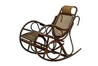 (Плетёное) Кресло качалка из ротанга Чабби (натуральный ротанг)