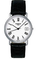 Часы мужские Tissot T-Classic Desire White Dial Black Leather TIST52142113