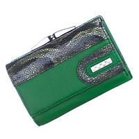 Небольшой женский кожаный кошелек Bobi Diqi зеленого цвета, фото 1