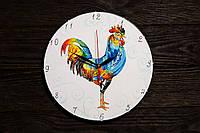 Настенные часы ручной работы Веселый петух, фото 1