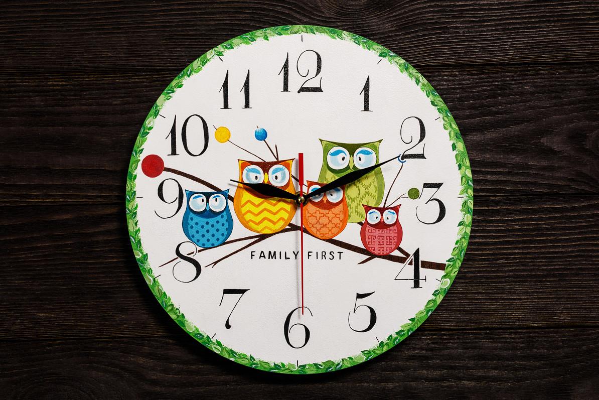 Настенные часы ручной работы Совы