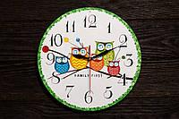Настенные часы ручной работы Совы, фото 1