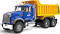 Игрушечный самосвал Bruder Mack Granite М1:16 Сине-желтый (02815)