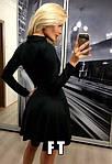 Женское платье, французский трикотаж, р-р 42-44; 44-46 (чёрный), фото 2