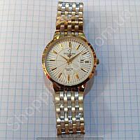 Женские часы Patek Philippe 8276G золотистые с белым циферблатом диаметр 38 мм