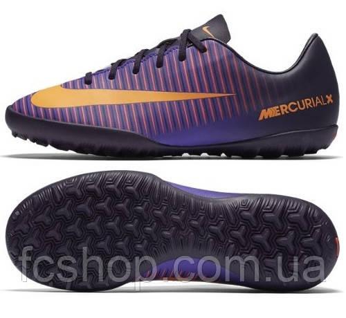 84e881dc9539 Футбольные детские сороконожки Nike MercurialX Vapor XI TF 831949 ...