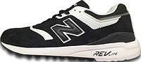 "Мужские кроссовки New Balance 997 ""White/Black"" Made in USA, нью беланс"