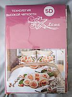 Постельное белье Лиша 5D евро, сатин, разные рисунки, фото 1