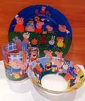 Набор детской посуды Свинка Пеппа Peppa (3 предмета)
