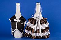 """Украшение на шампанское шоколад """"Жених Невеста"""""""