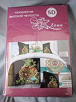 Постельное белье Лиша 5D двуспальное, сатин, разные рисунки, фото 1