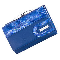 Небольшой женский кожаный кошелек Bobi Diqi синего цвета, фото 1