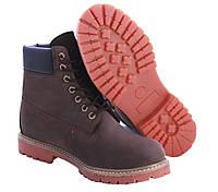 Тимберленды мужские коричневые Classic original Timberland 6 inch Brown обувь зимняя мужская
