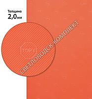 Резина подметочная «эластичка» рисунок «TOPY» (Китай), р. 400*600*2.0 мм, цв. красный