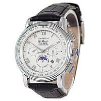 Мужские  часы  в стиле Zenith - Fly Back, механика с автозаводом, цвет корпуса серебро, фото 1