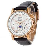 Мужские механические часы в стиле Зенит - Fly Back, цвет корпуса золото, фото 1