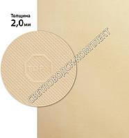 «Эластичка» рисунок «TOPY» (Китай), р. 400*600*2.0 мм, цв. белый - резина подметочная/профилактика листовая