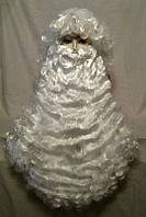 Парик Деда Мороза, цвет снежно-белый