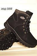 Ботинки женские зимние черные спортивные. Польша