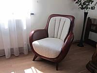 Мягкое удобное кресло для отдыха (кожа ткань) Альбертини Украина