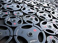 Блины диски для штанги обрезиненные с ручками высокого качества, для тренажерных залов, фитнес клубов, фото 1