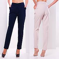 Классические женские брюки с высокой посадкой и стрелками