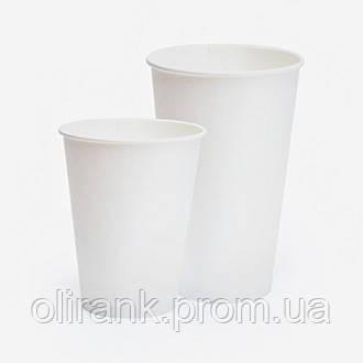 Стаканы бумажные 250 мл 50шт/уп белый СП (40уп/ящ) (кр-77)