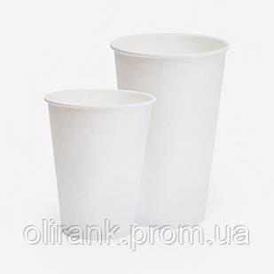 Стаканы бумажные 250 мл 50шт/уп Белый (40уп/ящ) (кр-77)