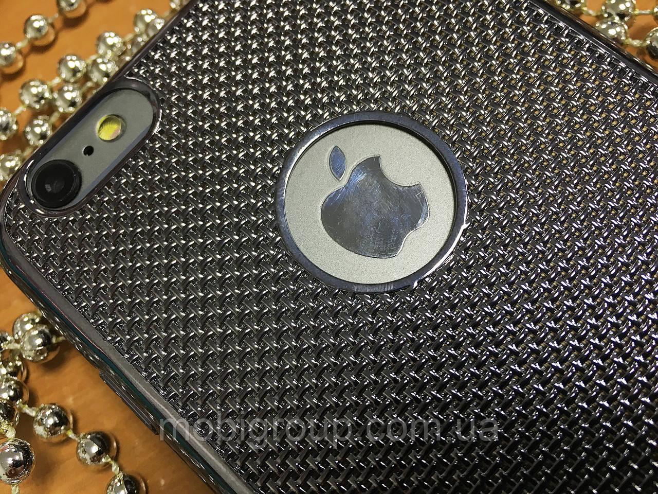 Силиконовый чехол Сетка под металлик iPhone 6SPlus/6Plus