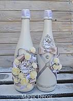 Оформление бутылки шампанского