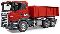 Детский грузовик Bruder Scania со съёмным контейнером M1:16 (03522)