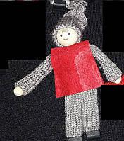 """Елочные игрушки """"Детки"""" из фетра и дерева, выс. 12 см, 35/30 (цена за 1 шт. + 5 гр.)"""