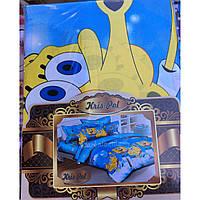 Детское постельное белье Теп комплект подростковый мультики Губка Боб