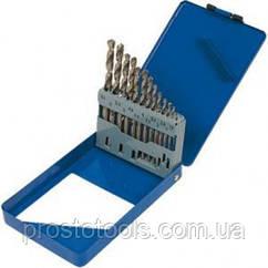 Набор сверл по металлу Р6М5 19 шт  1,0-10,0 мм Miol  22-095