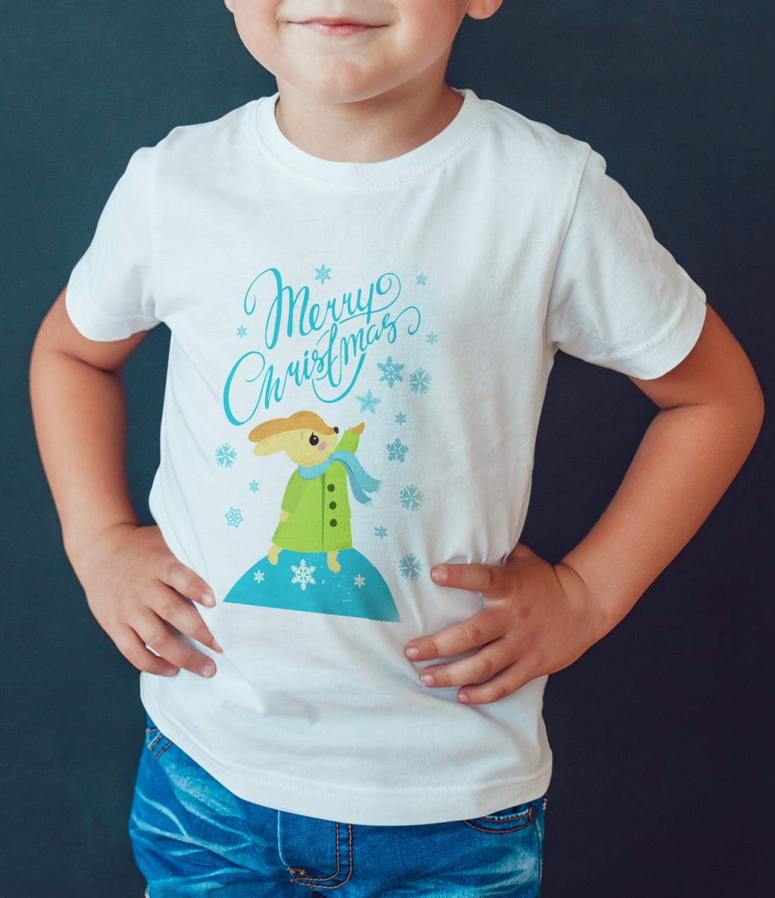 """Детская футболка """"Зайчик Мару Сhristmas """""""