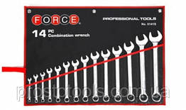 Набор рожково-накидных ключей 5/16''-1-1/4'' 14 ед. Force 5141S F