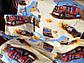 """Детский комплект постельного белья в кроватку из бязи Голд"""" Грузовики"""" (бежевые), фото 5"""