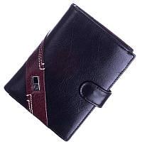 Кожаный мужской кошелек (портмоне) Bruna Burani черного цвета, фото 1