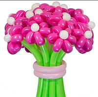 Букет из воздушных шариков, цветы из воздушных шариков. В букете 25 цветочков.