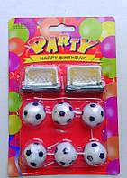 Свечи для торта Футбольные мячи с воротами