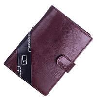 Кожаный мужской кошелек (портмоне) Bruna Burani коричневого цвета